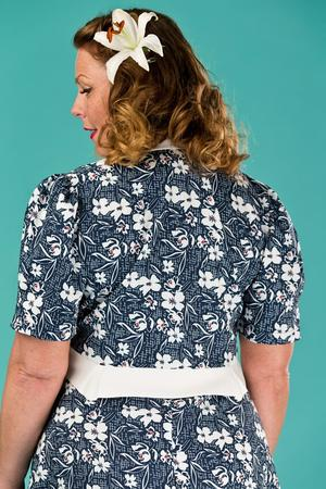 the shoo shoo baby bolero dress. navy floral