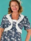 the shoo shoo baby bolero dress. navy floral