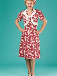 the shoo shoo baby bolero dress. red floral