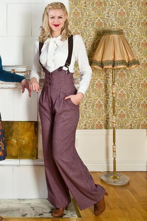 the miss fancy pants slacks. fig salt & pepper
