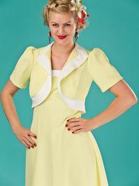 the shoo shoo baby bolero dress. pale lemon