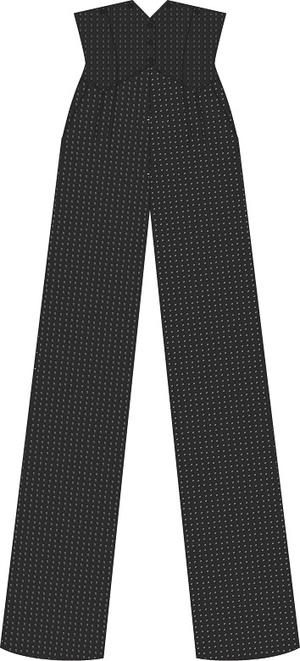 the miss fancy pants slacks. black jacquard