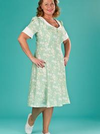 the lovely lindy dress. green floral