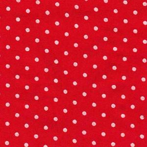 Playful polkadot playsuit. Red, dots