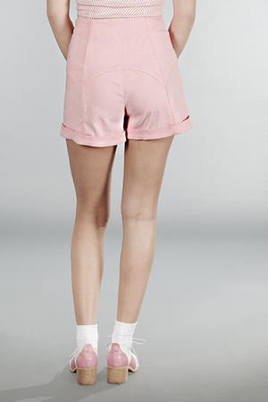 the gorgeous garter shorts. Candy pink