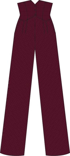 the miss fancy pants slacks. fig jacquard
