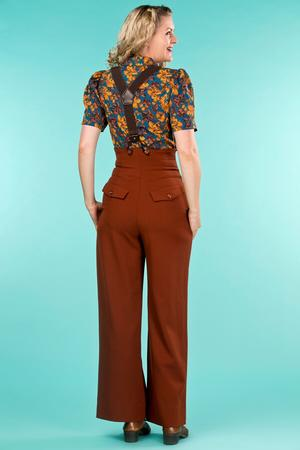 the miss fancy pants slacks. cinnamon jacquard