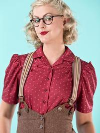 the sassy suspenders. brown striped