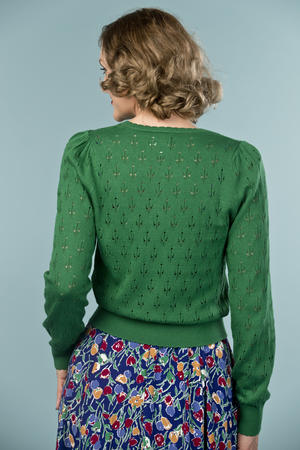 the cute as a button cardigan. forest green