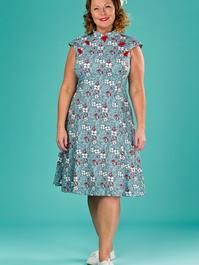 the Shanghai sweetie dress. multi floral