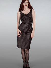 The jamming with Jackie dress. Black w. gold scales