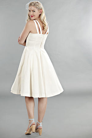 the bombshell bolero and dress duo. Cream white