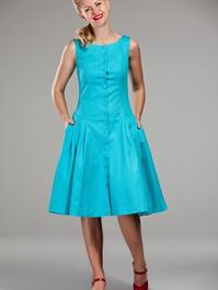 Debutante doll dress. Turquoise waffled