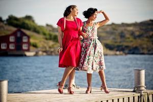the bombshell bolero and dress duo. Lipstick red