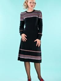 the Fair Isle knit dress. black