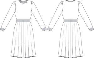 the Fair Isle knit dress. wine