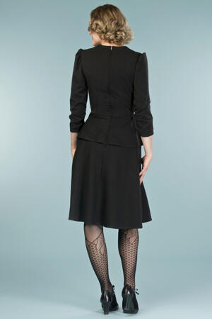 the double trouble dress. black bengaline