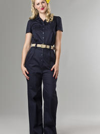 the jungle journey overalls. navy twill