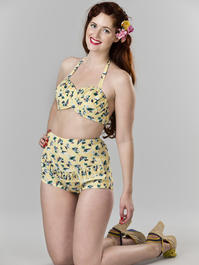 the itsy bitsy teeny weeny bikini. vacation yellow