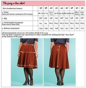 the jazzy A-line skirt. cinnamon jacquard
