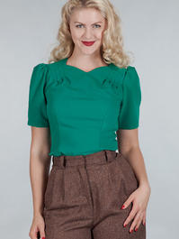 The darling darling top. Green crêpe