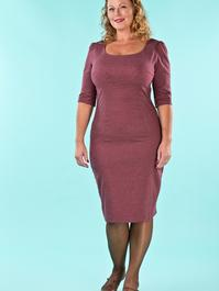 the golden days wiggle dress. wine salt & pepper