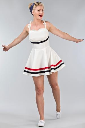 the fun and games dress. bright white