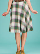 the jazzy A-line skirt. violet/green plaid - minty!