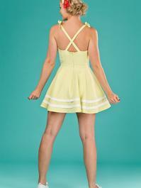 the fun and games dress. pale lemon