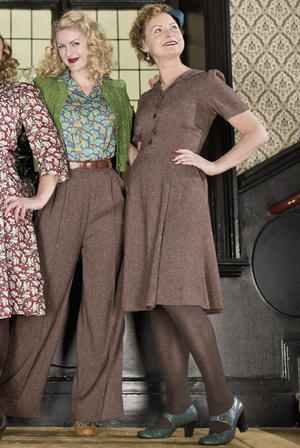 the miss fancy pants dress. brown salt & pepper