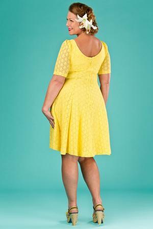the drop dead gorgeous dress. lemon lace