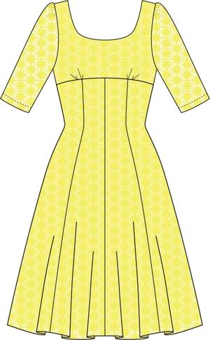 the drop dead gorgeous dress. lemon lace