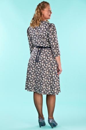 the vintage vixen dress. acorns navy