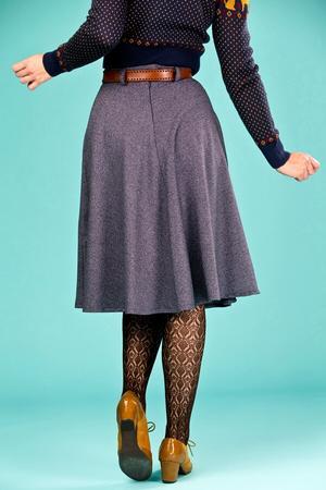 the jazzy A-line skirt. navy salt & pepper