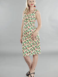 the jamming with Jackie dress. Cherries, yellow