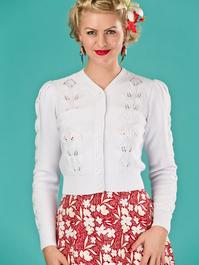 the Susie Q cardigan. bright white