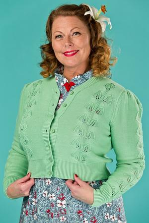 the Susie Q cardigan. green