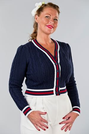 the country club cardigan. navy