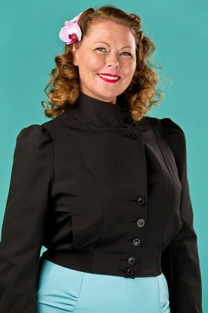 Amelia's aviator jacket. black
