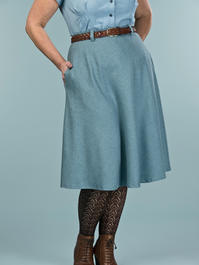 the jazzy A-line skirt. winter sky salt & pepper