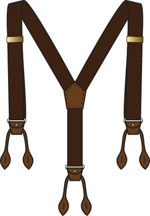 the sassy suspenders. brown