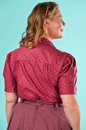 the Hollywood Boulevard blouse. wine dots