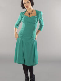 the glory of the past chiffon dress. emerald green