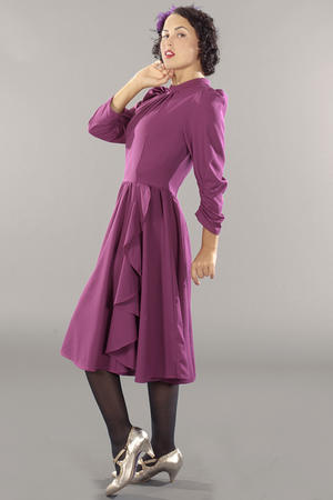 the times go by crêpe dress. plum