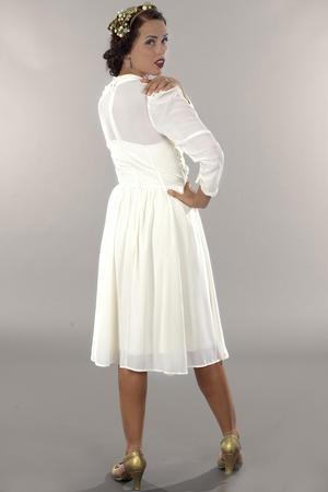 the times go by chiffon dress. cream white