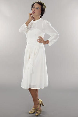 the times go by chiffon dress. cream white