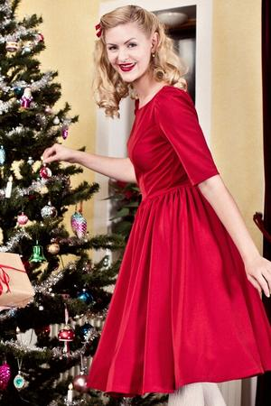 the ice breaker swing dress. ruby red