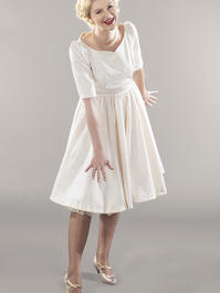 the ice breaker swing dress. cream white