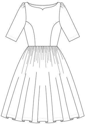 the ice breaker swing dress. cream white