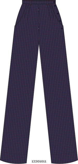 the handy dandy pants. navy plaid